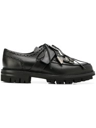 Dsquared2 Western Lace Up Shoes Black
