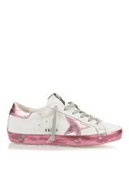 Golden Goose Super Star Sparkle Low Top Leather Trainers