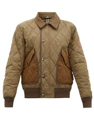 Burberry Chilton Quilted Bomber Jacket Khaki