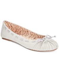 Mojo Moxy Dolce By Akachi Bow Flats Women's Shoes Dove