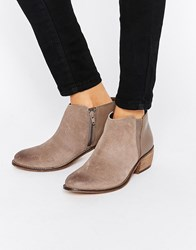 Dune Penelope Grey Suede Ankle Boot Grey