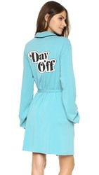Wildfox Couture Day Off Classic Robe Oasis Blue