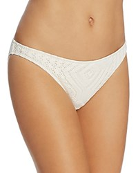 Ralph Lauren Polo Crochet Hipster Bikini Bottom Cream