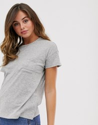 Abercrombie And Fitch Drop Shoulder T Grey