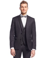 Bar Iii Charcoal Solid Extra Slim Fit Jacket
