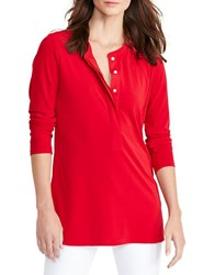 Lauren Ralph Lauren Long Sleeve Jersey Top Brilliant Red