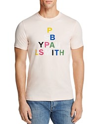 Paul Smith Ps Graphic Logo Tee Pink