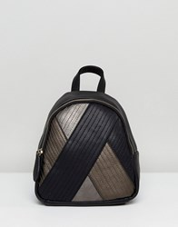 Lavand Quilt Mix Backpack Black Brown