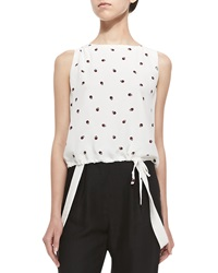Band Of Outsiders Sleeveless Ladybug Top W Drawstring 6 Uk 3