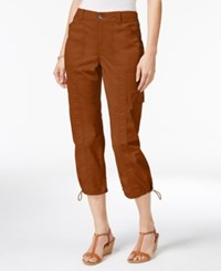 Styleandco. Style Co. Petite Bungee Hem Cargo Capri Pants Only At Macy's Brown Clay
