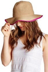 14Th And Union Colorblock Edge Panama Hat Pink