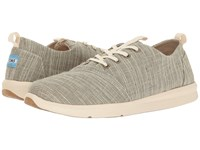 Toms Del Rey Sneaker Army Green Microstripe Men's Lace Up Casual Shoes