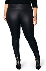 Mblm By Tess Holliday Plus Size Women's Double Knit Scuba Leggings Black