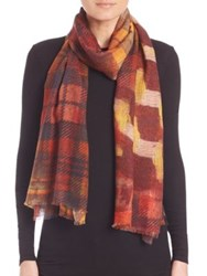 Bindya Winter Checks Cashmere And Silk Scarf Multi