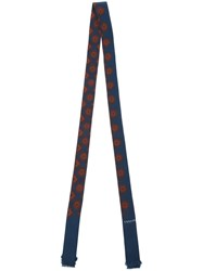 Lanvin Thin Patterned Scarf Blue