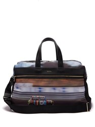Paul Smith Mini Print Canvas And Leather Holdall Multi