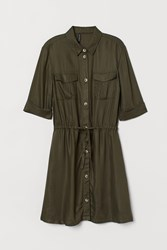Handm H M Shirt Dress Green