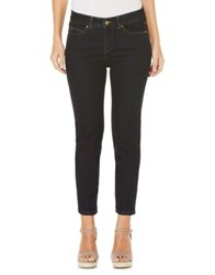 Rafaella Petite Slim Fit Ankle Denim Jeans Dark Indigo