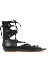 Iro Xiri Studded Leather Lace Up Sandals Black