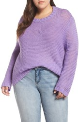 Glamorous Plus Size Drop Shoulder Sweater Lilac