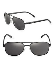 Hugo Boss Matte Aviator Sunglasses Matte Black
