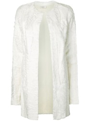 Vera Wang Fur Coat White