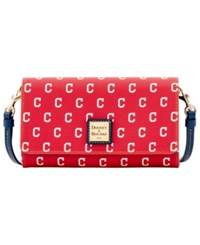 Dooney And Bourke Cleveland Indians Daphne Crossbody Wallet Red Navy