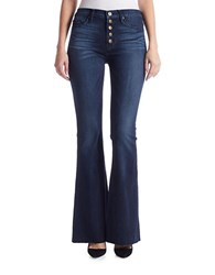 Hudson Jeans Jodi High Waist Raw Hem Flare Anchor Light