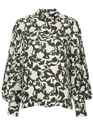 Christian Wijnants Printed Bell Sleeve Blouse Multicolour