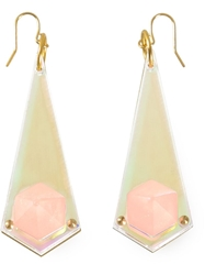 Sarah Angold Studio 'Dalis' Earrings Pink And Purple