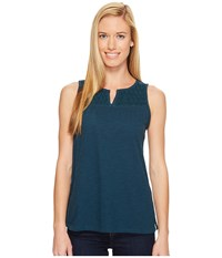 Woolrich Bell Canyon Eco Rich Tank Top Harbor Women's Sleeveless Blue
