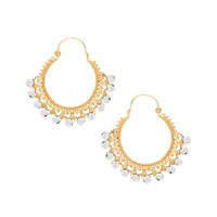 Ottoman Hands Pearl Ornate Earrings White Gold