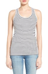 Caslonr Women's Caslon Ribbed Racerback Tank White Black Stripe