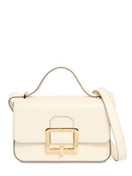 Bally Janelle Leather Shoulder Bag Off White