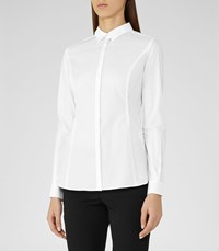 8848bddf92f07 Reiss Ruben Womens Button Front Shirt In White