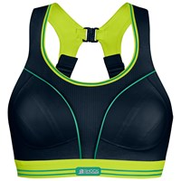 Shock Absorber Ultimate Run Non Wired Sports Bra Black Lime