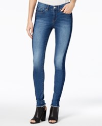 William Rast Perfect Tuxedo Stripe Skinny Jeans Cyan Tears