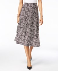 Jm Collection A Line Jacquard Skirt Only At Macy's Mosaic Block