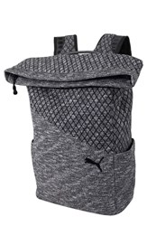 Puma Evo 2.0 Foldover Top Knit Backpack Black
