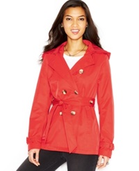 Madden Girl Madden Girl Hooded Double Breasted Trench Coat Spice