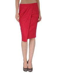 Normaluisa Knee Length Skirts Fuchsia