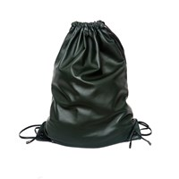 Xenab Lone Unlined Drawstring Backpack Green And Black