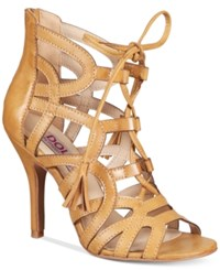 Mojo Moxy Dolce By Karachi Lace Up Sandals Women's Shoes Camel