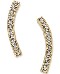 Eliot Danori Gold Tone Pave Ear Crawler Earrings