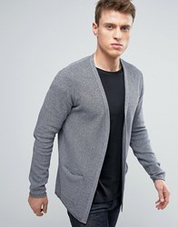 Selected Homme Drape Cardigan Ombre Blue
