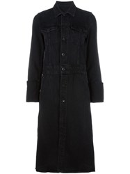 Helmut Lang Cuffed Trench Coat Black