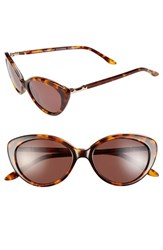Women's Bcbgmaxazria 'Stunning' 51Mm Cat Eye Sunglasses Stunning Tortoise