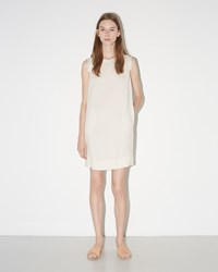 Raquel Allegra Sleeveless Shift Dress Dirty White