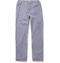 Sleepy Jones Marcel Striped Cotton Pyjama Trousers Blue