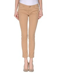 M.Grifoni Denim Trousers Casual Trousers Women Camel